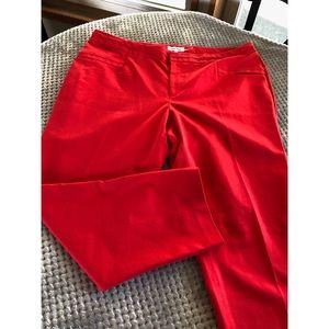 Calvin Klein Red Capri Pants Size 18W